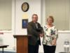 Elizabeth Stanley was recognized for her retirement from the school district after 37 years of teaching.