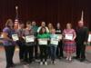 Okeechobee County School Food Service workers were recognized for their help during Hurricane Irma.  Workers fed over 700+ shelter evacuees three meals a day.