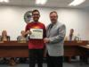 Cristian Rios was recognized for receiving the 2018 Cooke College Award as well as being awarded a National Merit Scholarship.