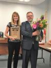 Mrs. Dixie Ball was recognized for her four years of service on the school board.