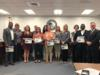 Staff members from throughout the district were recognized for their help in putting on the Staff S.T.A.R. Banquet.